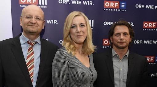 Orf Iii Kultur Und Information Geschaftsfuhrer Peter Schober Und Eva Schindlauer Mit Orf