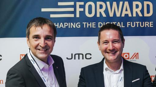 Michael Otter und Josef Mantl auf der Moving Forward Conference in New York City © JMC