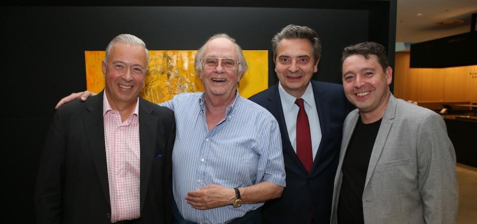 Cocktail zum Österreichischen Musiktheaterpreis 2019: Herbert Lippert, René Kollo, Christoph Wagner-Trenkwitz und Karl-Michael Ebner © GEPA Pictures/Mathias Mandl