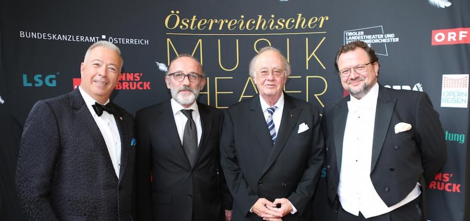 Österreichischer Musiktheaterpreis 2019: Herbert Lippert, Karl Markovics, René Koll und Burkhard Fritz © GEPA Pictures